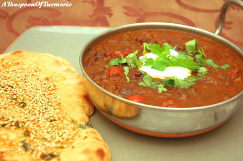 Winter warming spicy Rajma Curry is delicious on a cold day.