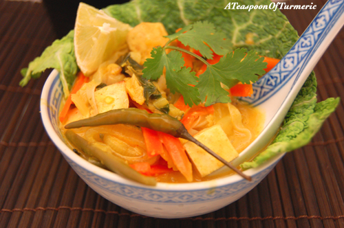 Spicy Thai Curry Noodles: In many cultures this would be considered the perfect breakfast food!