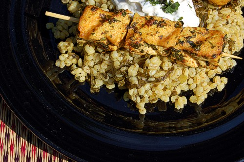 Serve this tofu on top of a bed of rice or grain of your choice or on top of a salad.