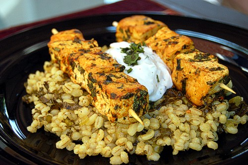 Arvinda's Tandoori Masala is the perfect blend for marinating tofu.