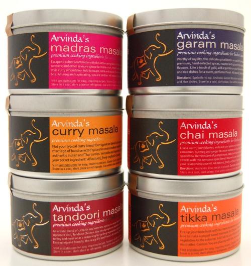 Arvinda's premium Indian spice blends