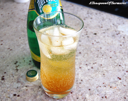 Turmeric Ginger Fizz -  very refreshing!