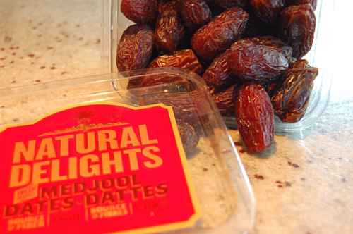 Natural Delights mejdool dates are perfect for this recipe.