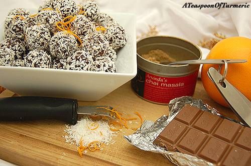 Homemade Chai Spiced Chocolate Orange Truffles