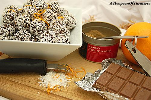 Homemade Chai Spiced Chocolate Orange Truffles