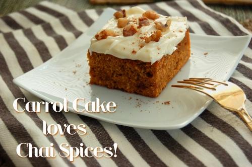 Chai Spiced Carrot Halwa Cake
