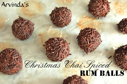 Arvinda's Christmas Chai Spiced Rum Balls