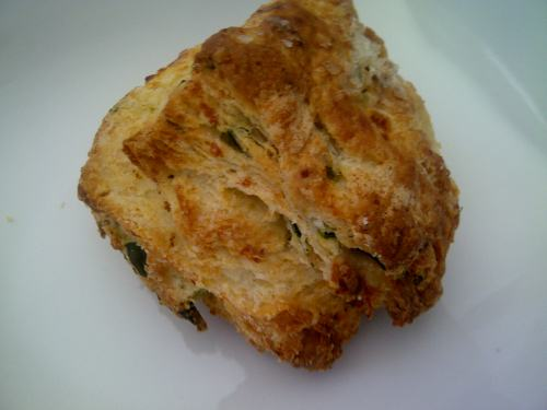 Spinach & Feta Scone from Baker and Scone in Toronto - amazing!