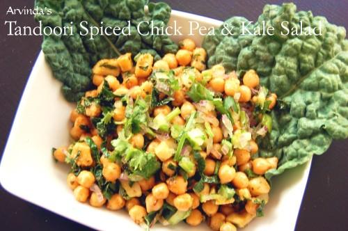Tandoori Spiced Chick Pea & Kale Salad